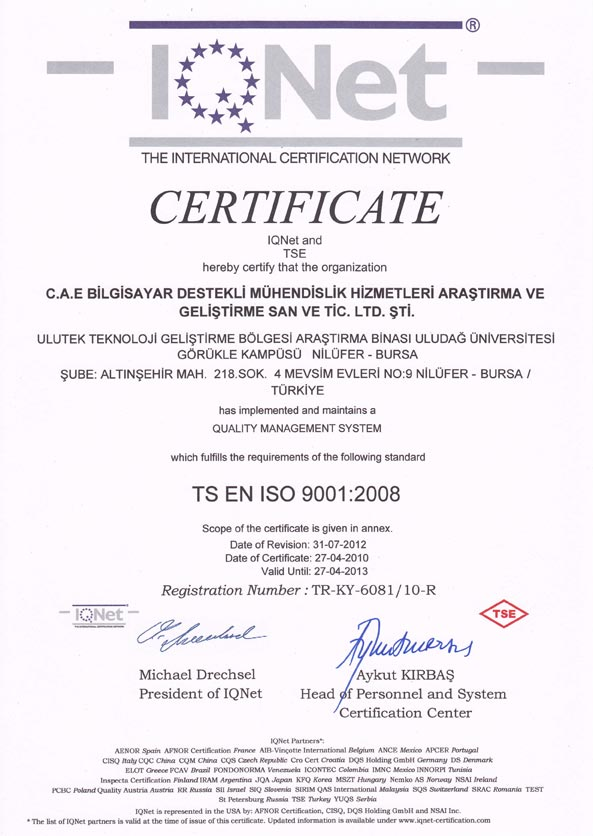 Cae Solutions Computer Aided Engineering Services Rd Limited